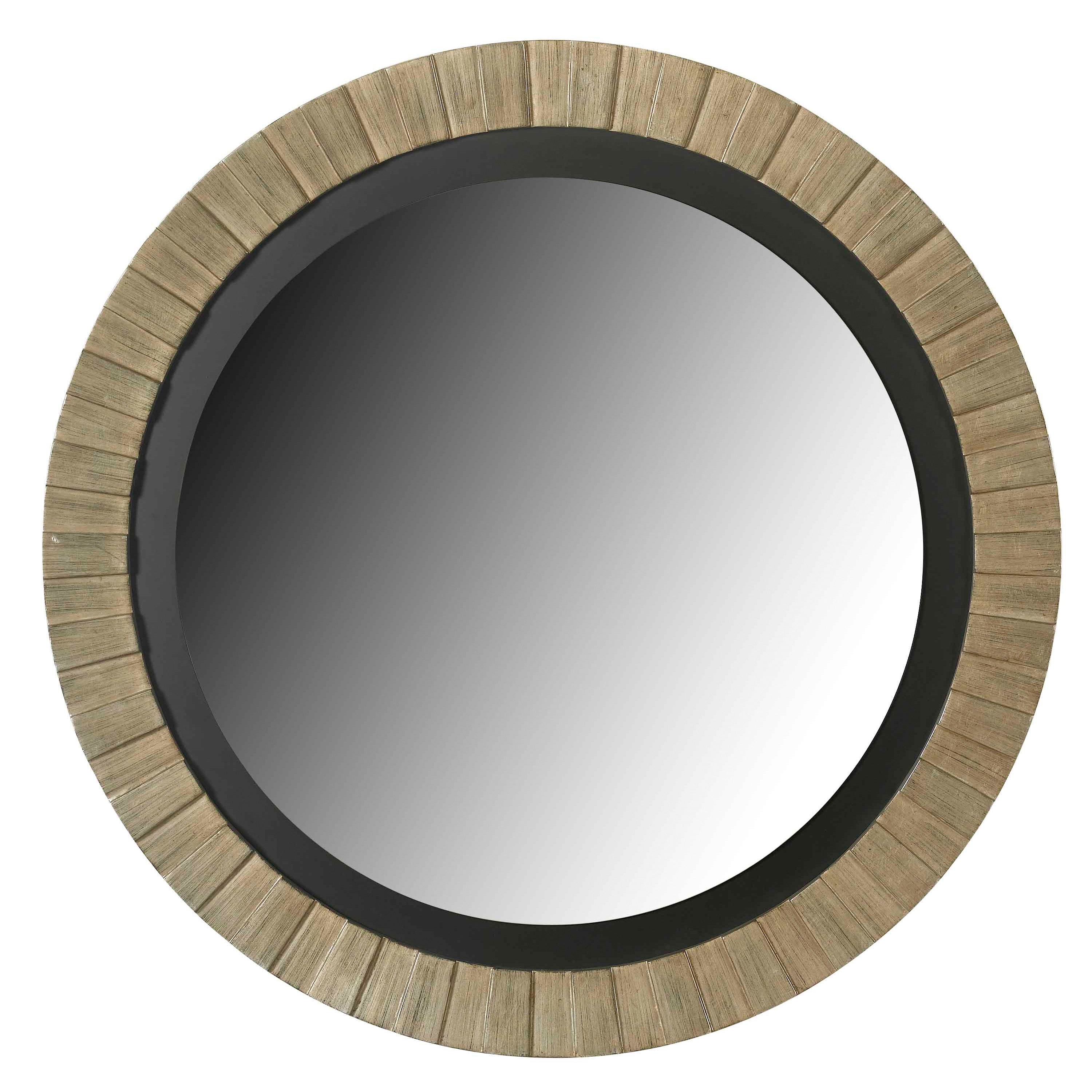 glades round antique silver wall mirror overstock shopping great deals on design craft mirrors. Black Bedroom Furniture Sets. Home Design Ideas