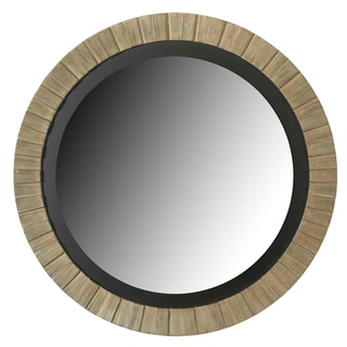 Glades Round Antique Silver Wall Mirror