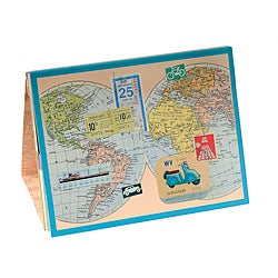 Desktop Teal Border Memo Notepads Set of 6 (Korea)