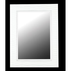 Monroe (39 x 30) Gloss White Wall Mirror