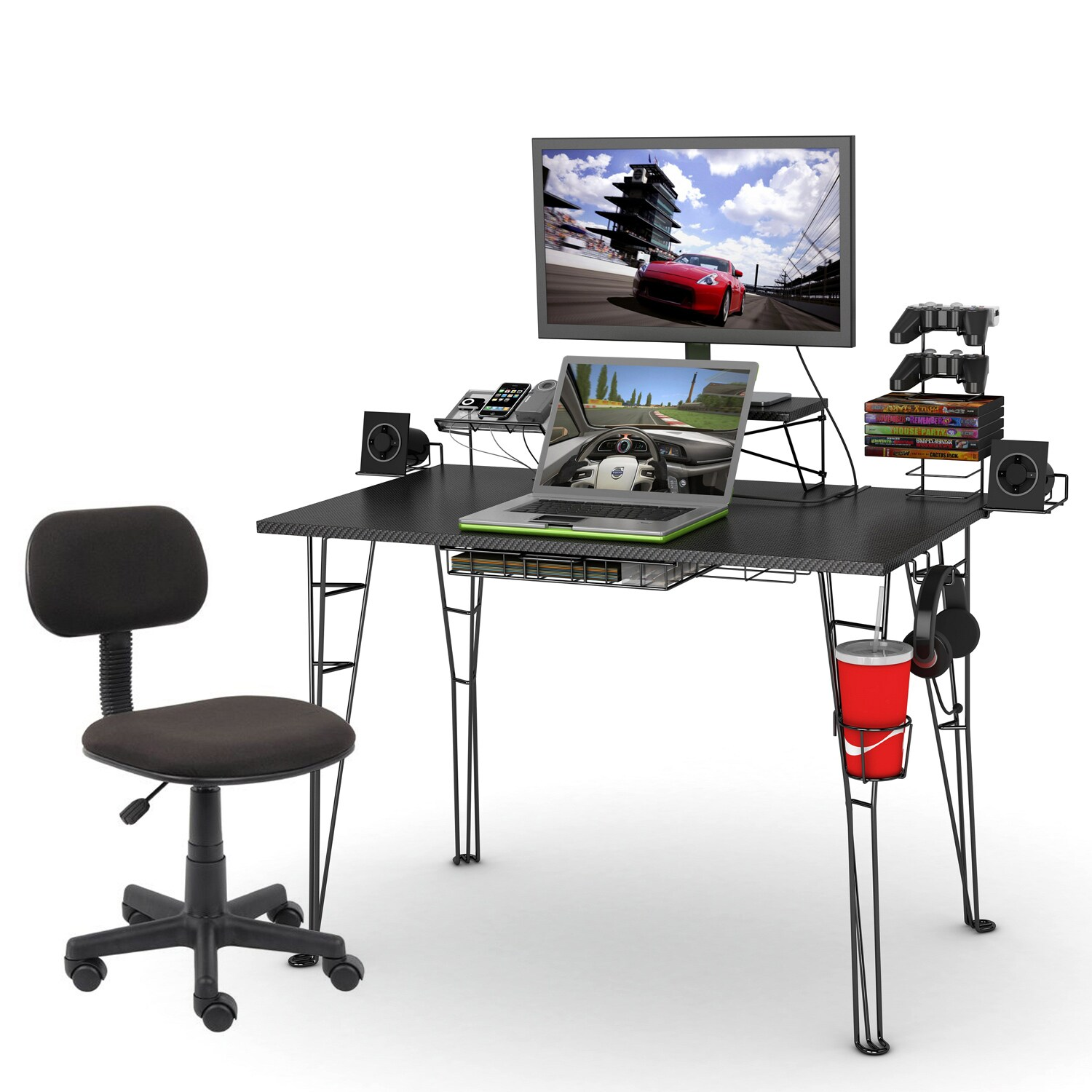 Gaming Desk and Task Chair