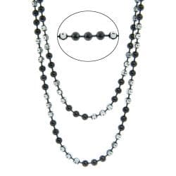 Eternally Haute Sterling Silver 36-in Half Moon Chain Necklace