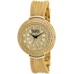 Burgi Women's Crystal Mesh Bracelet Quartz Watch