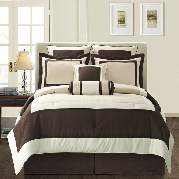 Ivory Gramercy California King-size 8-piece Comforter Set