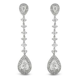 Miadora 18k White Gold 4 4/5ct TDW Certified Diamond Drop Earrings (E-F, SI2)