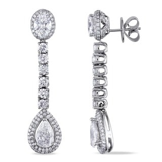 Miadora 18k White Gold 5 4/5ct TDW Diamond Earrings (F-G, VS2)