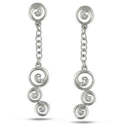 Miadora 14k White Gold Diamond Accent Earrings (G-H, SI1-SI2)