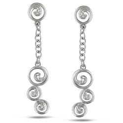 14k White Gold Diamond Accent Earrings (G-H, SI1-SI2)