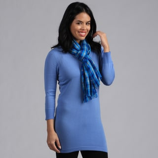 Amtal Blue Checkered Scarf
