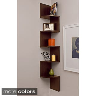 Laminated Veneer Corner Wall Mount Shelf