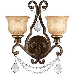 Traditional Bronze Umber 2-light Wall Sconce