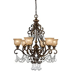 Traditional Bronze Umber 6-light Chandelier