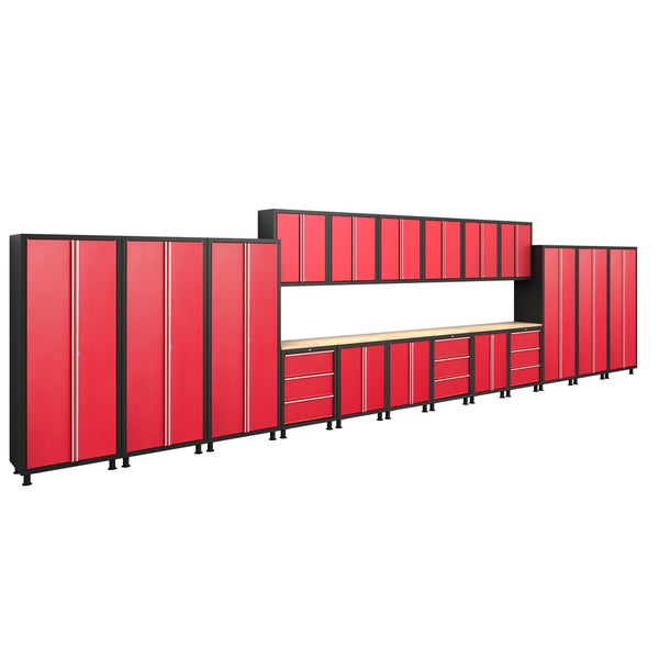 NewAge Products Bold Series Red 21-piece Cabinetry Set