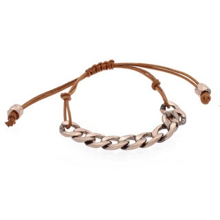 NEXTE Jewelry Rose Goldtone Cuban Chain Bracelet