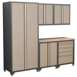NewAge Products Pro Series Taupe 6-piece Cabinetry Set