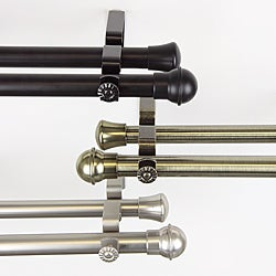 Rimmed Ball Adjustable Double Curtain Rod