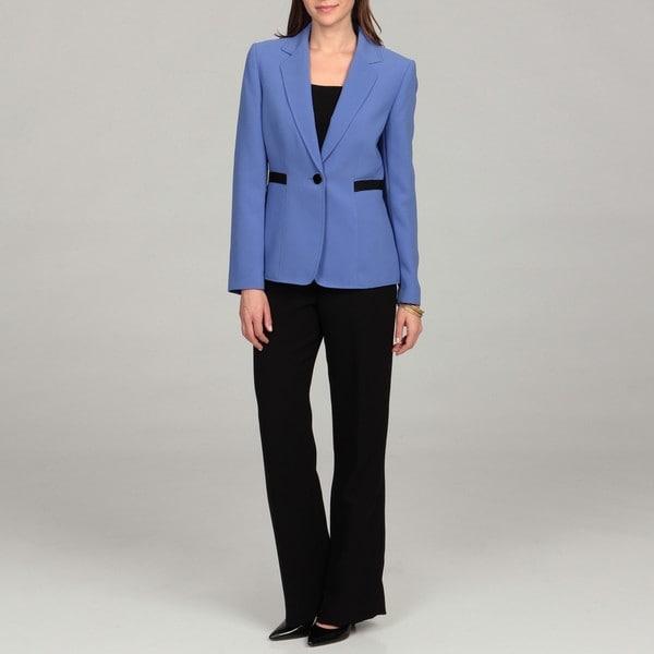 Tahari Women's Crepe Single-button Pant Suit