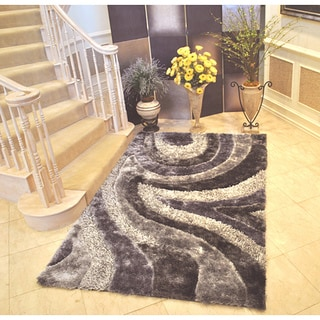 EverRouge 3D Grey Area Rug (8' x 10')