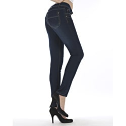 MDZ Women's 'Marissa' Medium Blue Skinny Jeans