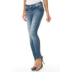 MDZ Women's Kloe Embroidered Pockets Skinny Jeans