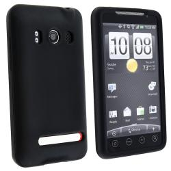Black Silicone Skin Case for HTC Sprint EVO 4G/ Supersonic (Pack of 2)
