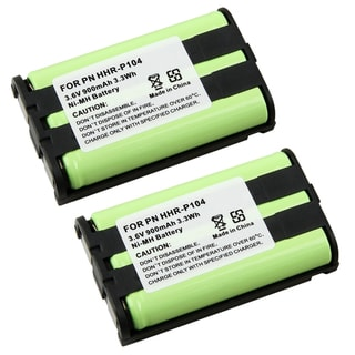 Cordless Phone Ni-MH Battery for Panasonic HHR-P104 (Pack of 2)