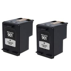 HP 901 CC653AN Black Ink Cartridge Remanufactured (Pack of 2)