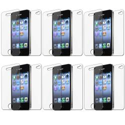 Front/ Back LCD Screen Protector Apple Iphone 4/ 4S (Pack of 6)