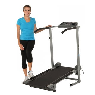 Exerpeutic 480 Extended Capacity Magnetic Manual Treadmill with Pulse
