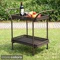 Wicker Patio Serving Cart