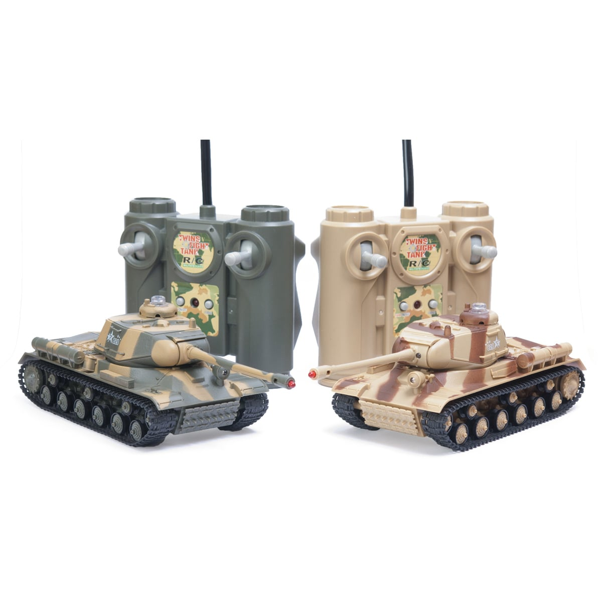 Remote Control Laser Tag Fighting Battle Tank Set