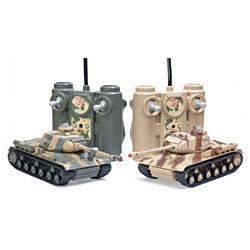 Remote Control Laser Tag Fighting Battle Tank Set