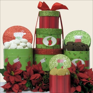 Christmas Stocking:  Holiday Christmas Gift Tower