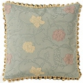 European Woven Floating Flowers Jaquard Throw Pillow