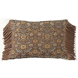 European Woven Vintage Brocade Floral Jaquard Throw Pillow