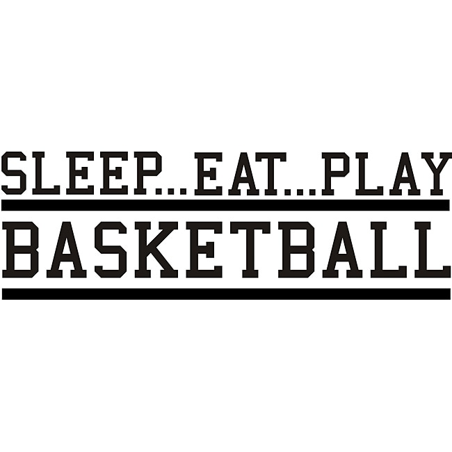 Design on Style 'Sleep Eat Play Basketball' Vinyl Wall Art Quote
