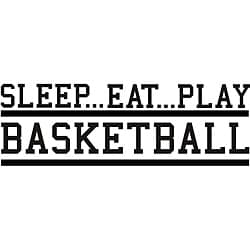 'Sleep Eat Play Basketball' Vinyl Wall Art Quote