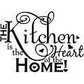 'The Kitchen is the Heart of the Home' Vinyl Art Quote