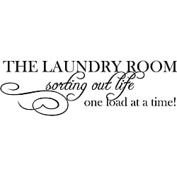 'The Laundry Room Sorting Life Out One Load At A Time' Vinyl Art