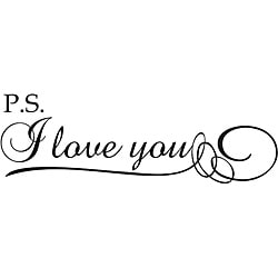 'P.S. I Love You!' Vinyl Wall Art Quote