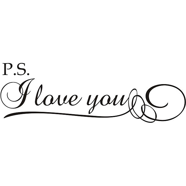 Design on Style 'P.S. I Love You!' Vinyl Wall Art Quote
