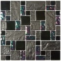 SomerTile 11.75-in Oasis Versailles Iris Glass/ Ceramic Mosaic Tiles (Pack of 10)