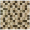 SomerTile 11.625x11.625-in Reflections Square Breeze Glass Mosaic Tile (Pack of 10)