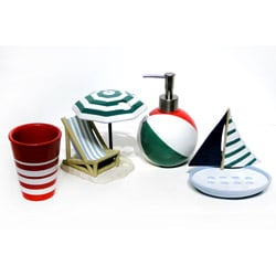 Ocean Beach Bath Accessory 4-piece Set