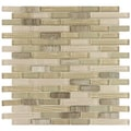 SomerTile 12x11.75-in Reflections Piano Sahara Glass and Stone Mosaic Tile (Pack of 10)