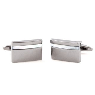 Cuff Daddy Gunmetal White Mother of Pearl Cuff Links