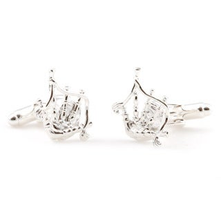 Cuff Daddy Sterling Silver Bagpipe Cuff Links