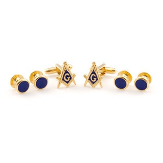 Cuff Daddy Goldplated Masonic Formal Cuff Link Set