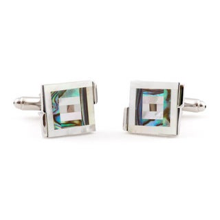 Cuff Daddy Abalone Bull's-eye Cuff Links