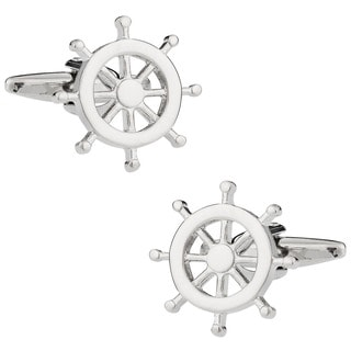Cuff Daddy Silvertone Sea Lovers Cuff Links